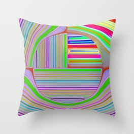 In the colorful focus 2 Throw Pillow