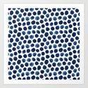 Large Indigo/Blue Watercolor Polka Dot Pattern by nicnak85