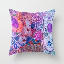 Bacterial world Throw Pillow