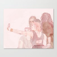 selfie Canvas Prints featuring selfie by rowan turner