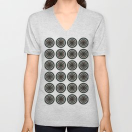 Abstract Modern Concentric Circles Texture Unisex V-Neck