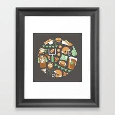 Football! Framed Art Print