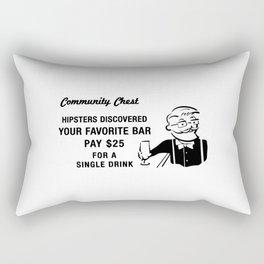 Hipster Monopoly Rectangular Pillow