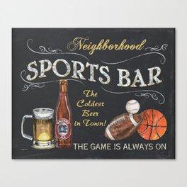 Sports Bar Sign Canvas Print