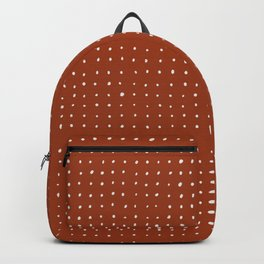 Light grey dots on rust Backpack