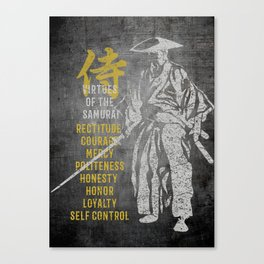 Virtues of Samurai Canvas Print