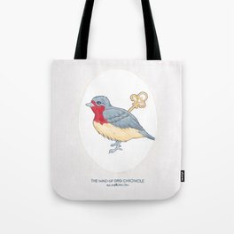 Haruki Murakami's The Wind-Up Bird Chronicle // Illustration of a Bird with a Wind-up Key in Pencil Tote Bag