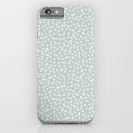 SILVER STARS CONFETTI iPhone Case
