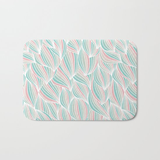 Cool Colorful Ocean Waves Bath Mat