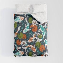 Koi Pond - Orange Comforters