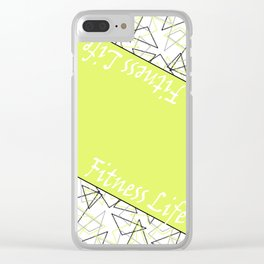 The fitness club . Sport . Lemon white creative sport pattern . Clear iPhone Case