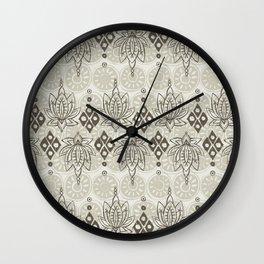 lotus diamond linen Wall Clock