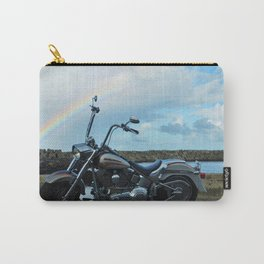 Motorcycle At The End Of The Rainbow Carry-All Pouch