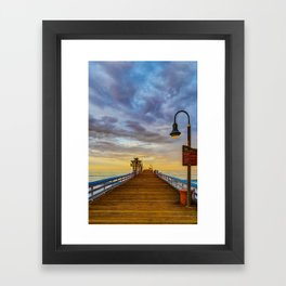 Magical San Clemente Pier Framed Art Print