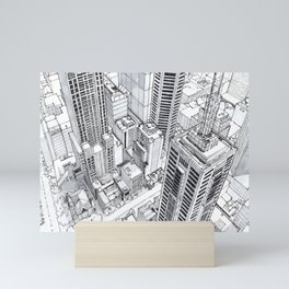 City view Mini Art Print