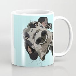 Great Dane in your face (teal) Coffee Mug