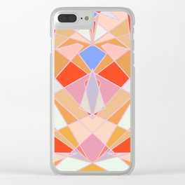 Flat Geometric no.35 Shapes and Layers Clear iPhone Case