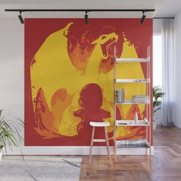 Charizard Evolution Wall Mural