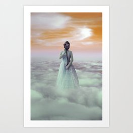Princess in her Gas Mask Art Print