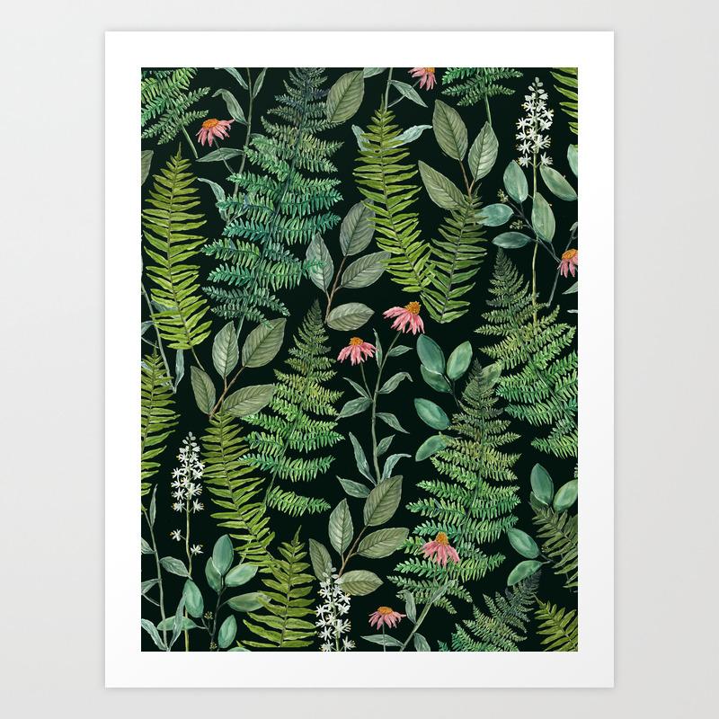 Pacific Northwest Plants Art Print By Jennalechner Society6