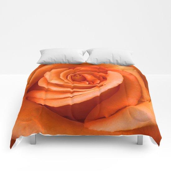 Orange Rose Comforters