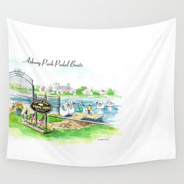 Swan Boats Wall Tapestry