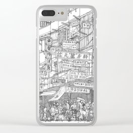 Hong Kong. Kowloon Walled City Clear iPhone Case