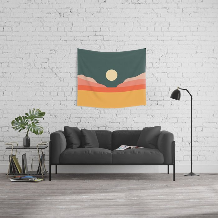 Geometric Landscape 14 Wall Tapestry