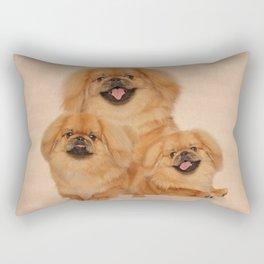 Pekingese dogs collage Rectangular Pillow