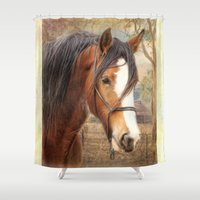 home sweet home Shower Curtains featuring Home Sweet Home by Trudi Simmonds