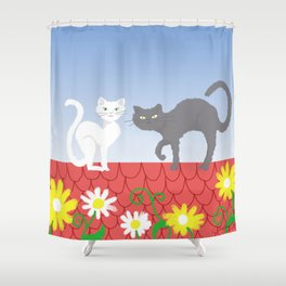 Cats on the roof Shower Curtain