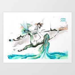 Acending Aquarius Art Print