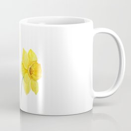two botanical yellow daffodils watercolor Coffee Mug