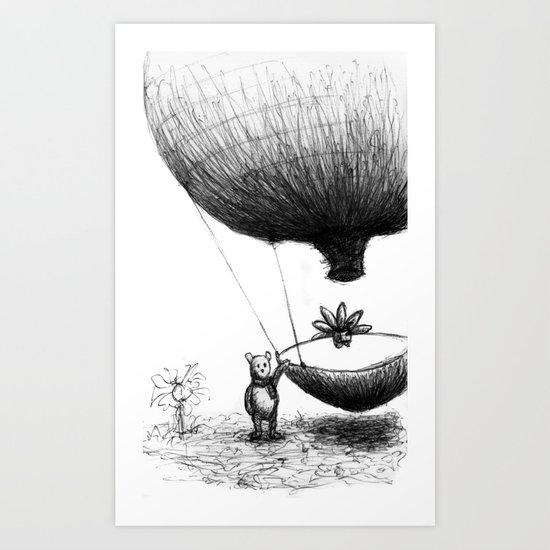 Zander and his Balloon  Art Print