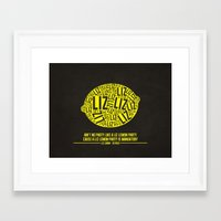 liz lemon Framed Art Prints featuring 30 rock - liz lemon by lissalaine