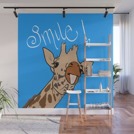 Happy Giraffe Wall Mural