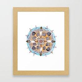 Cape Cod Mandala Framed Art Print