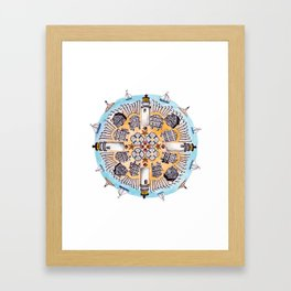 Cape Cod Mandala Framed Art Print