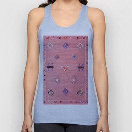 Pink Oriental Traditional Boho Moroccan Style Design Artwork Unisex Tank Top