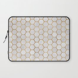 Geometric Hexagonal Pattern Laptop Sleeve