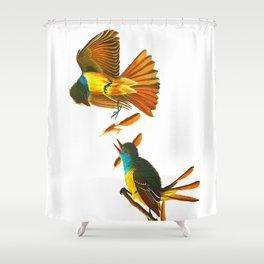 Great Crested Flycatcher Bird Shower Curtain