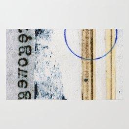 Polish Lines Abstract Collage Rug
