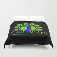 rave Duvet Covers featuring Rave Turkey by metalhorse354