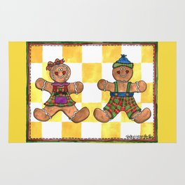 The Gingerbread Twins Rug