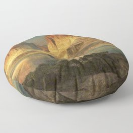 Nearing Camp, Evening on the Upper Colorado River, Wyoming by Thomas Moran Floor Pillow