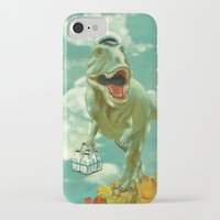 dino iPhone & iPod Cases featuring Dino by Edith Waddell