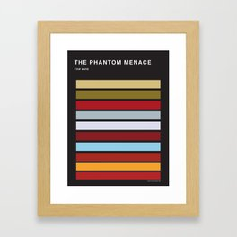 The colors of StarWars - The Phanton Menace Episode 1 Framed Art Print