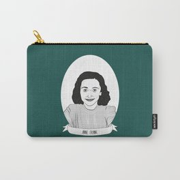 Anne Frank Illustrated Portrait Carry-All Pouch