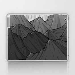 The Dark Grey Mountains Laptop & iPad Skin