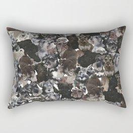 Schnauzer Collage Realistic Rectangular Pillow